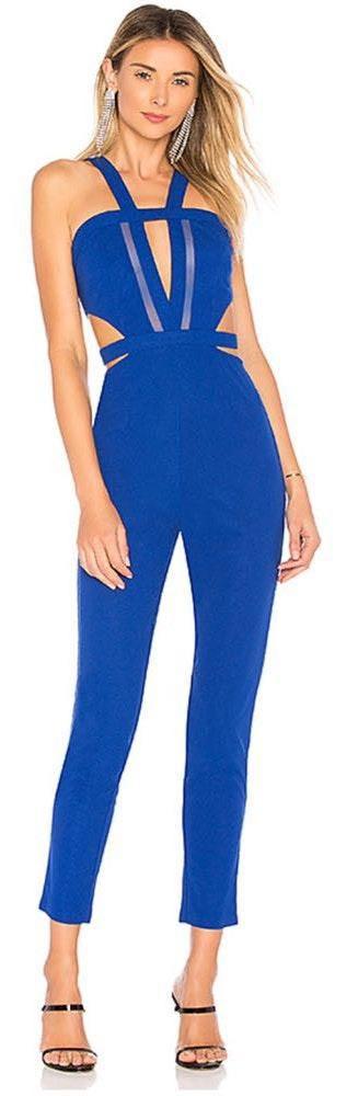 Revolve cobalt blue jumpsuit