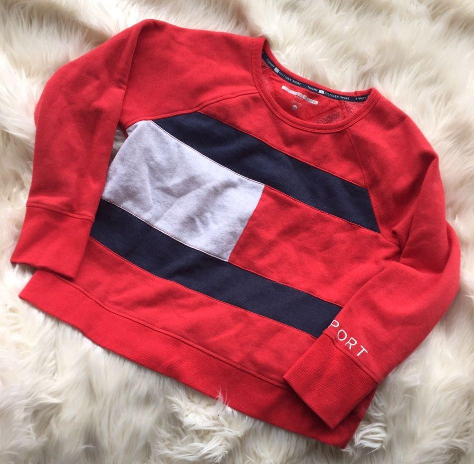 Tommy Hilfiger Large Logo Crop Sweatshirt