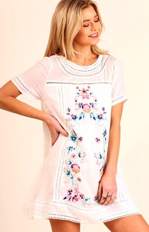 Umgee Embroidered Dress