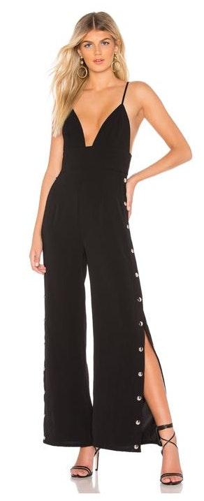 by the way. Black Snap Jumpsuit