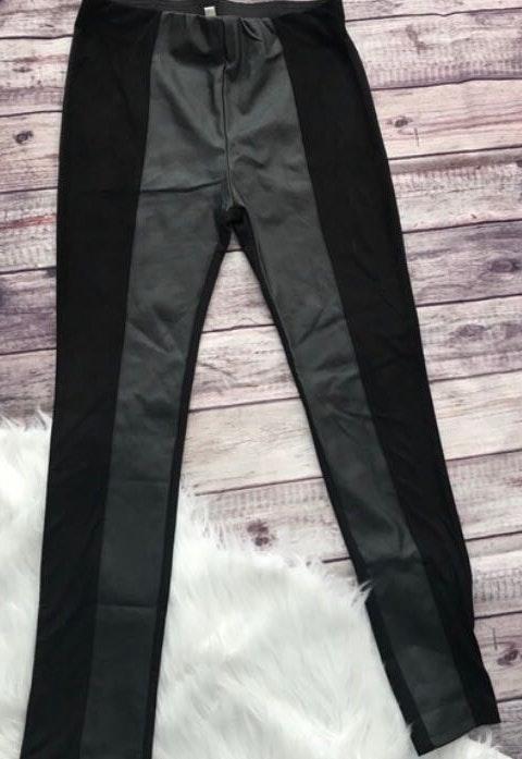 Umgee Black Leather Leggings