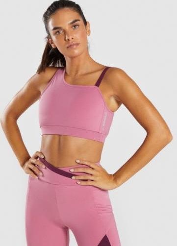 Gymshark Asymmetric Sports Bra Dusty Pink
