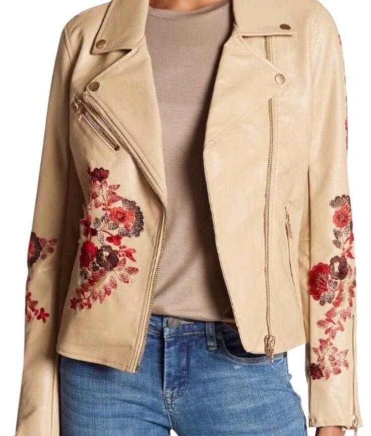 BLANK NYC Tan/beige Embroidered Jacket