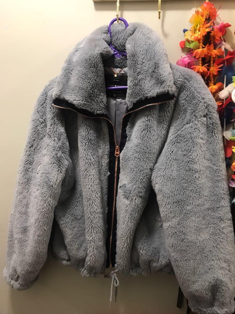 Lucky Brand Bomber fur