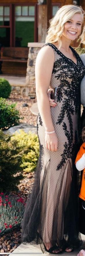 Macy's Lace/Mesh Prom Dress 💃🏼