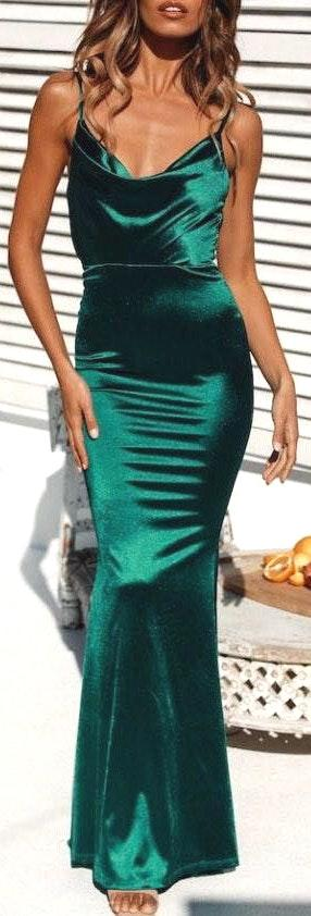 Hello Molly Emerald Green Formal Dress