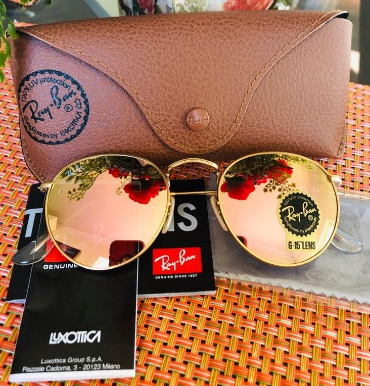 Ray-Ban New Rayban Round Metal Pink Size  50mm