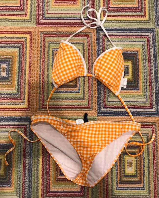 Ralph Lauren Orange and white bikini