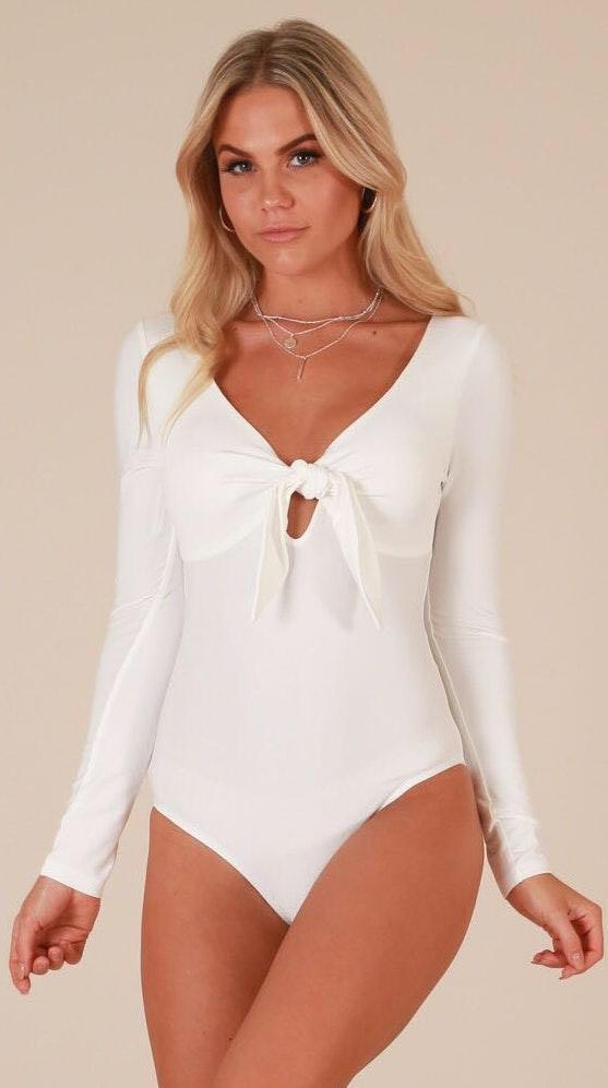 Showpo White Bodysuit