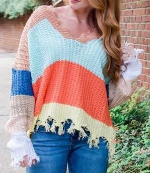 Multi colored sweater