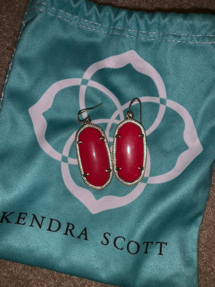 Kendra Scott red and gold kendra earrings
