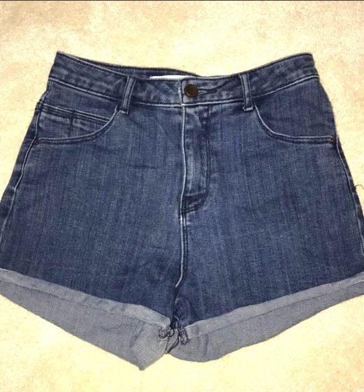 ZARA High Waisted Jean Shorts