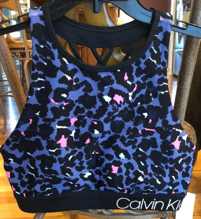 Calvin Klein Performance Cheetah Print Sports Bra