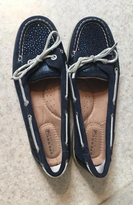 Sperry Navy Rhinestone  Boat Shoes