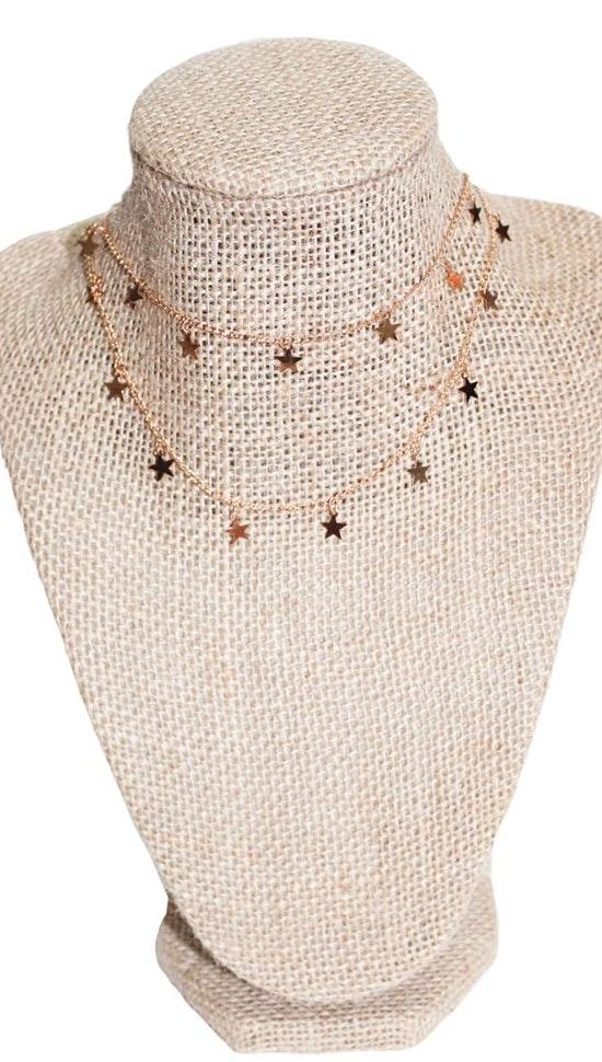 Beaded by Meg Gold Star Dangle Double Wrap