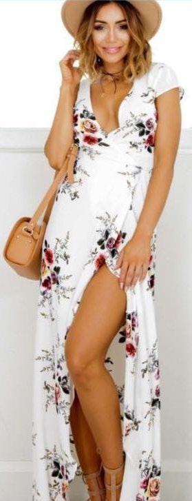 Showpo Floral Maxi Wrap Dress