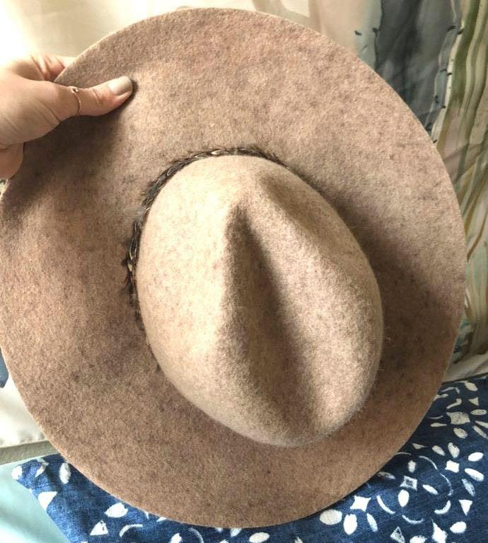 Boutique Felt & Feather hat