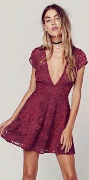 For Love & Lemons Sienna Mini Lace Dress