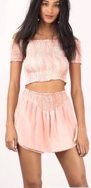 Tobi Faded Pink Two Piece
