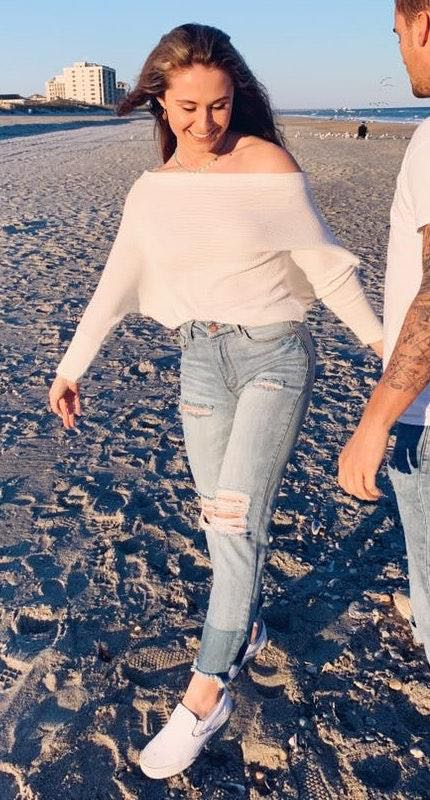 These Three Boutique Ripped Two Toned Jeans