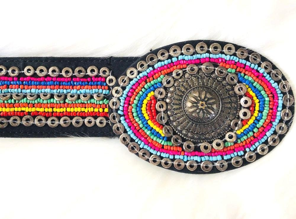 Chicos colorful chunky beaded belt