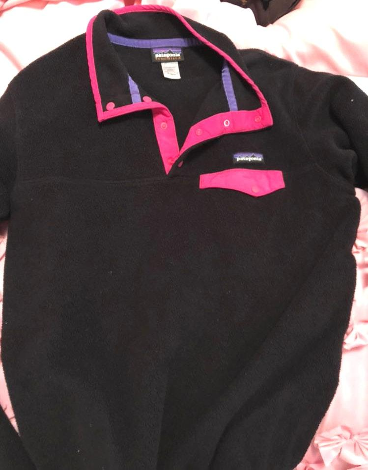 Patagonia Black And Pink Pullover