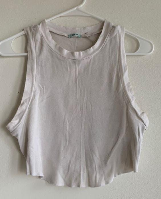 Kimchi Blue Urban Outfitters Sleeveless Off White Crop Top