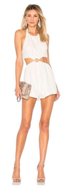 Revolve White Cut Out Romper