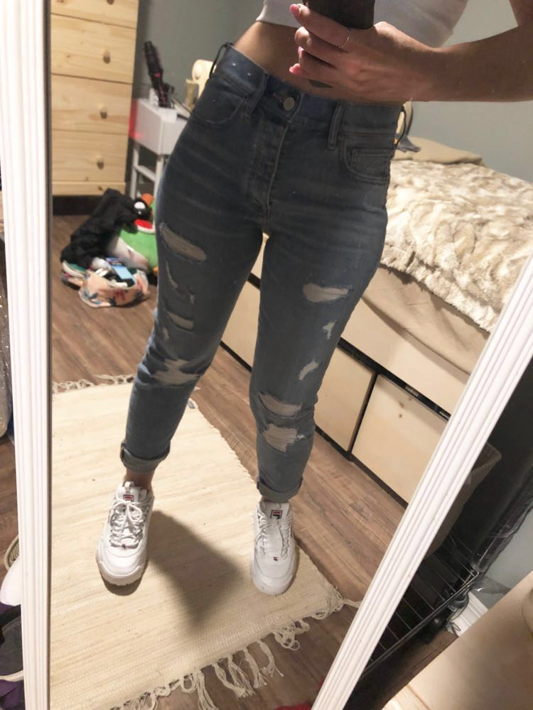EXPRESS Vintage Skinny Ankle High Rise Jeans