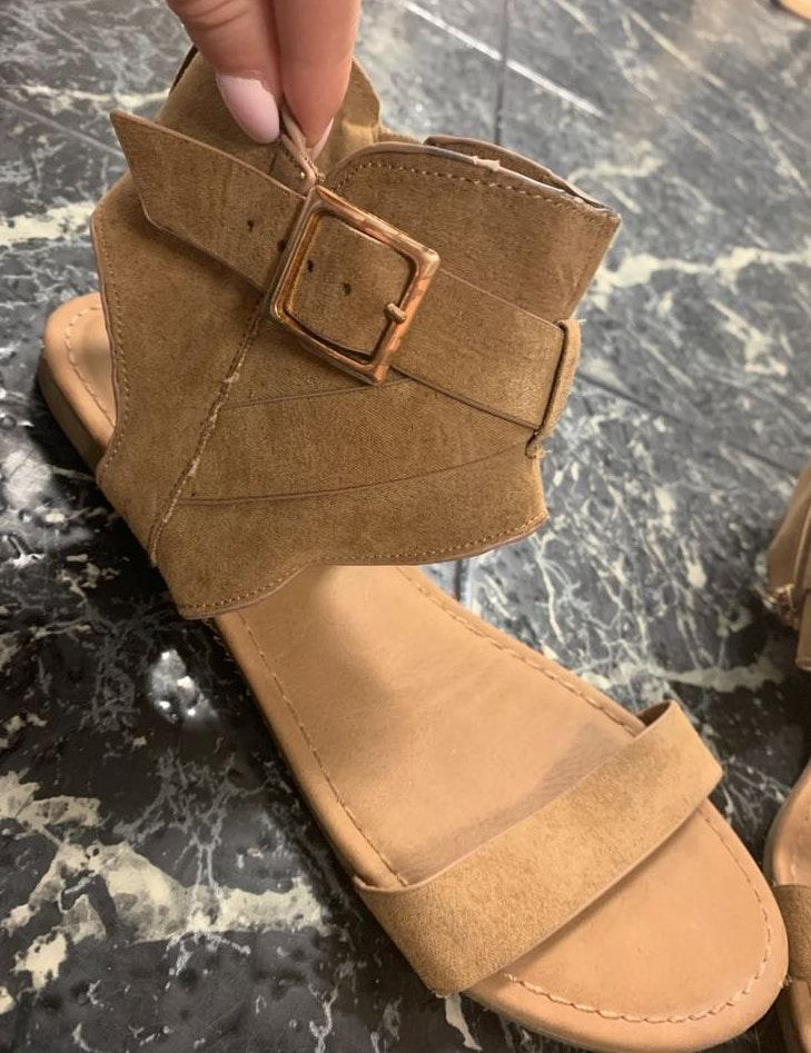 Bamboo Tan Suede Sandals