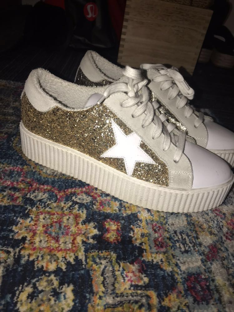 The Shoe Box Glitter Platform Sneaker
