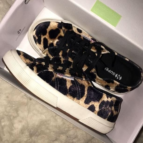 Superga Sold Out Velvet Leopard Sneaker