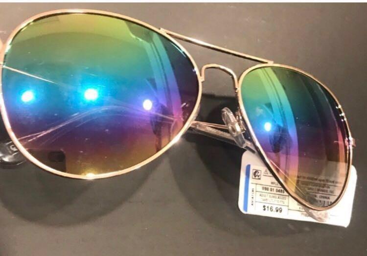 Aviator Gold Mirrored Sunglasses