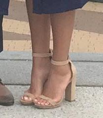 Lulus Nude Suede Two Strap Heel