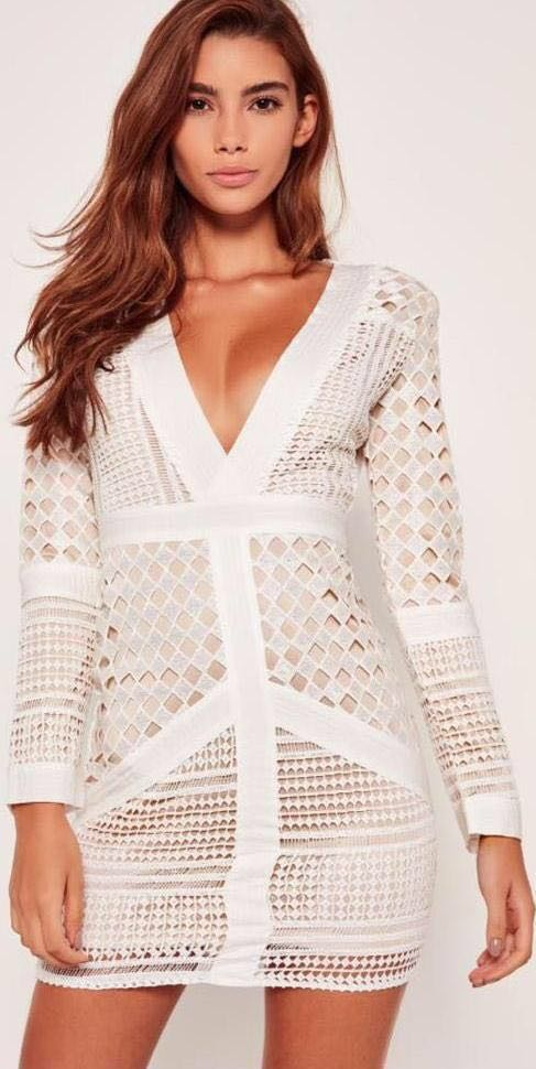 3d5ff766ae0 Missguided White lace dress
