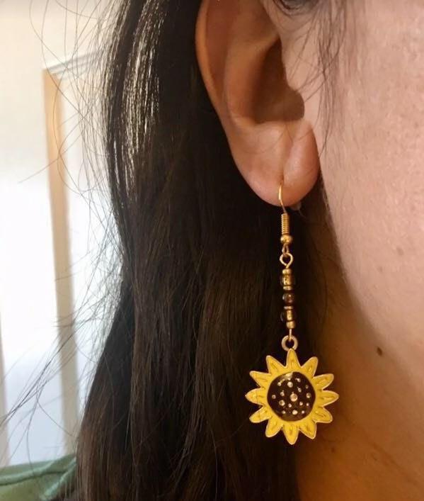 Handmade Sunflower Earrings