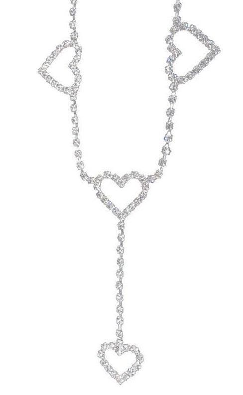 Posh Angel *✧・゚:* Rhinestone Heart Belt Chain ✧*:・゚