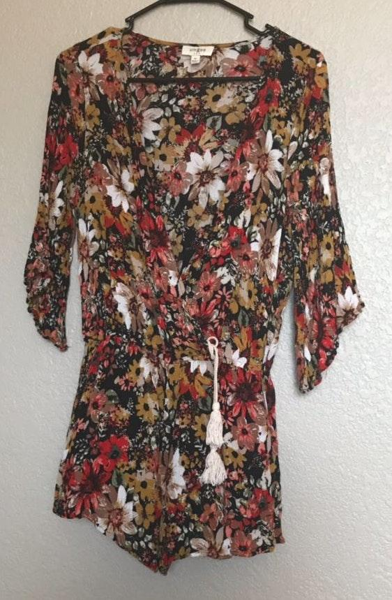 Umgee Floral Fall Romper
