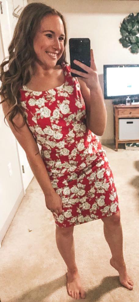 Brooks Brothers Pink Floral Dress