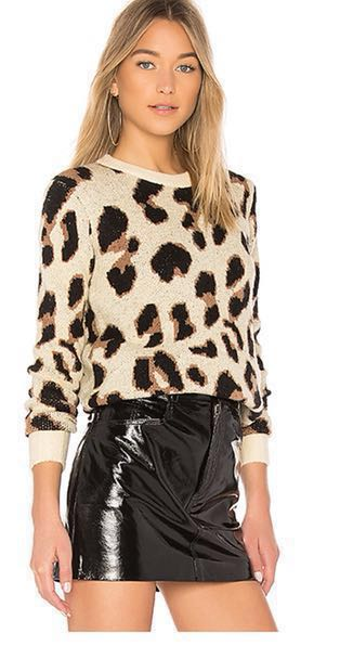 Lovers + Friends Leopard Cheetah Print Sweater
