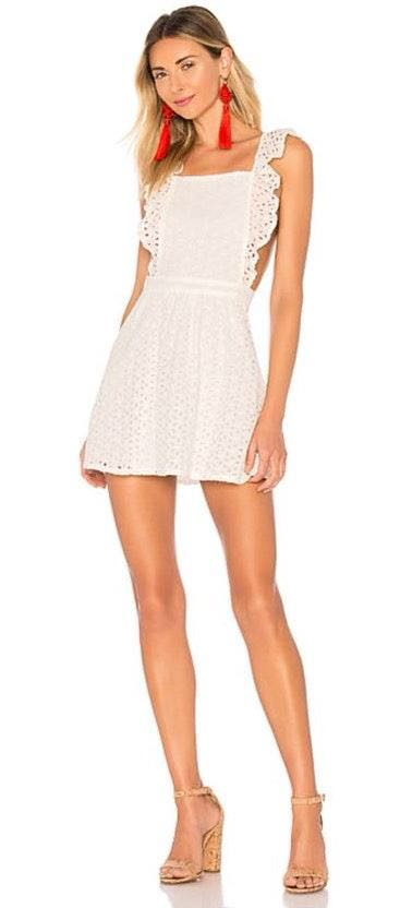 Revolve BB Dakota White Eyelet Dress