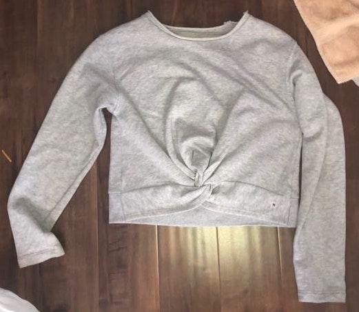 Aerie Cropped Twist Front Sweater