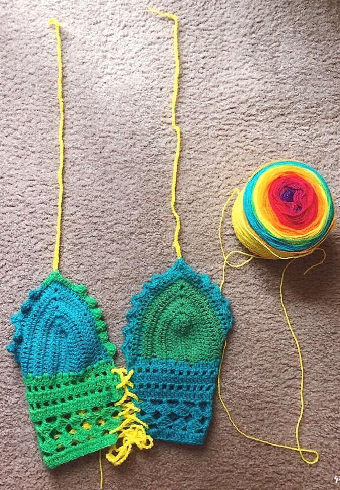 Handmade Crocheting Top Women's Bralette Multicolor All Sizes