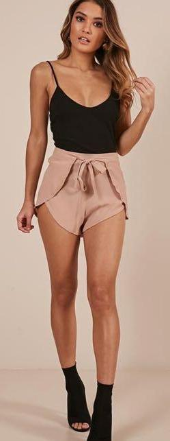 Showpo Tone It Down Shorts in beige
