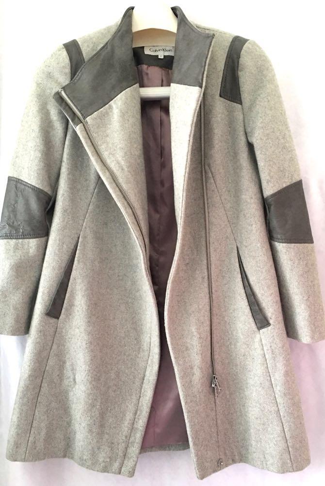 Calvin Klein Gray Women's Coat