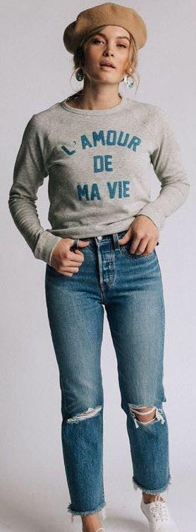 Clad & Cloth Comfy Gray Pullover