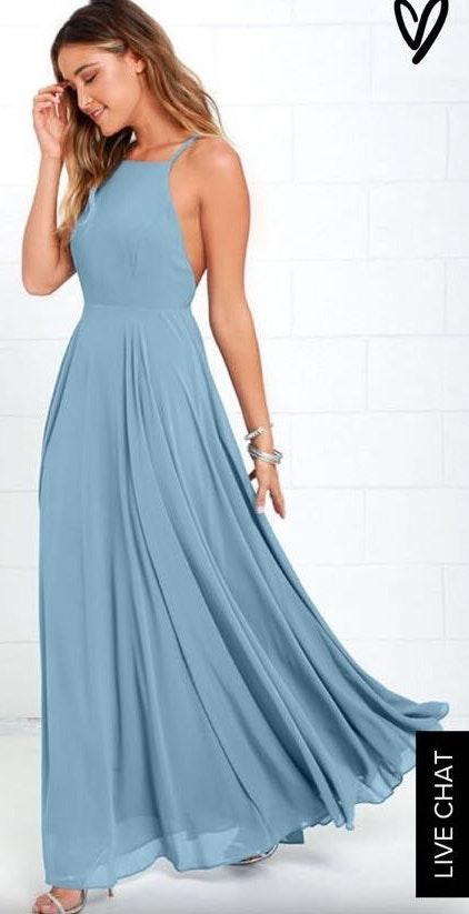 Lulus Light Blue Formal Dress