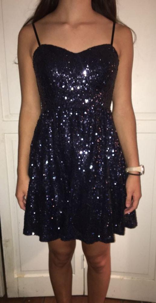 B Darlin Short Sparkly Blue Formal Dress