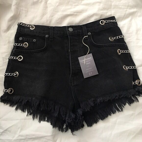 Carmar Denim Chain Side Shorts