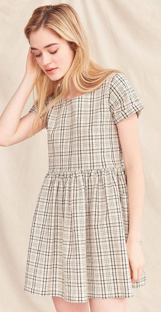 Urban Outfitters Renewal Plaid Babydoll Dress